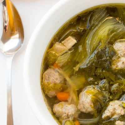 One Pot Authentic Homemade Italian Wedding Soup