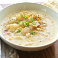 One Pot Corn and Crab Chowder