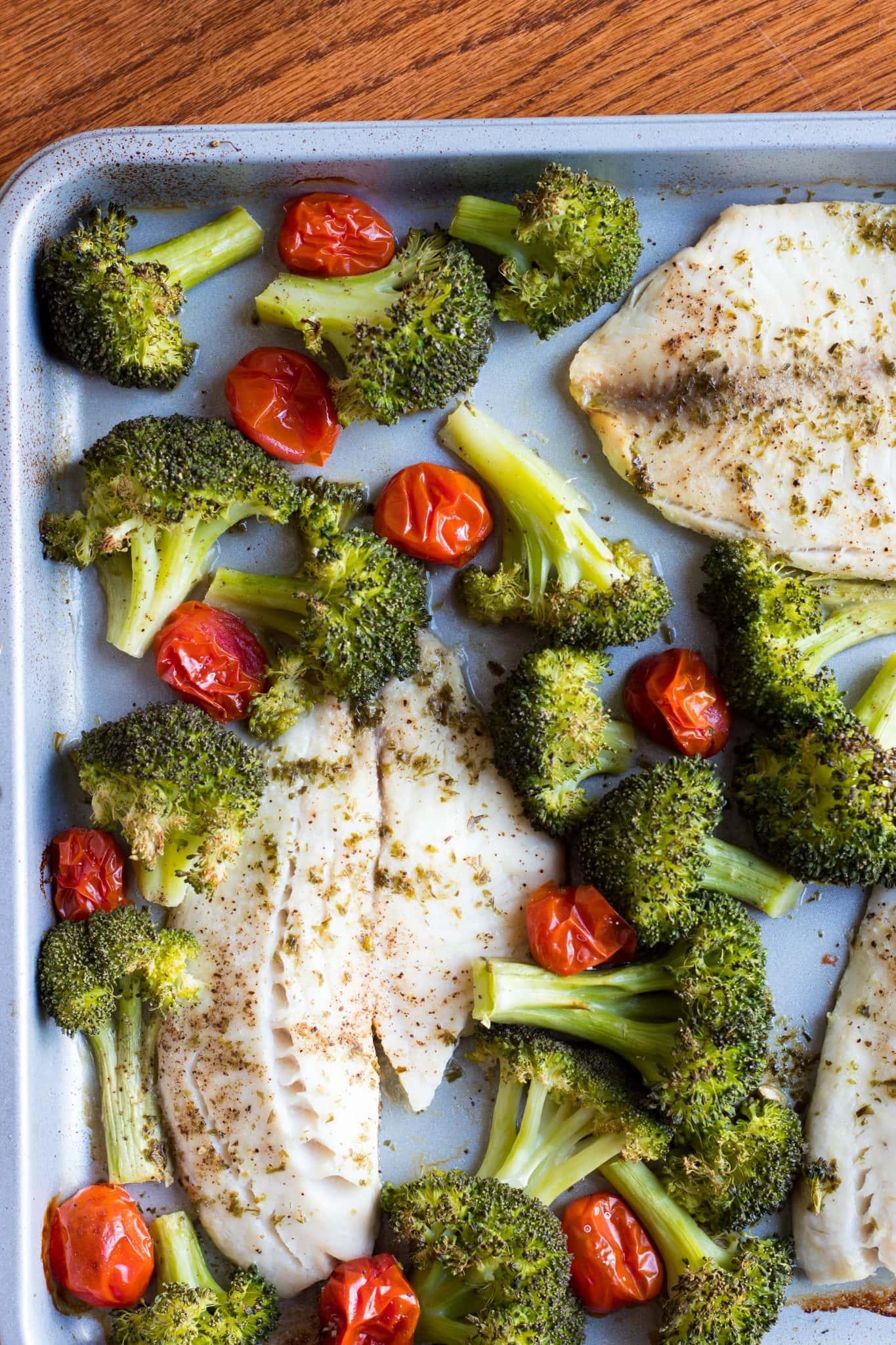 Roasted Tilapia and Broccoli Sheet Pan Dinner