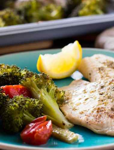 Roasted Tilapia & Broccoli Sheet Pan Dinner