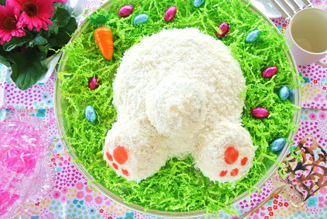 Easter Bunny Butt Carrot Cake
