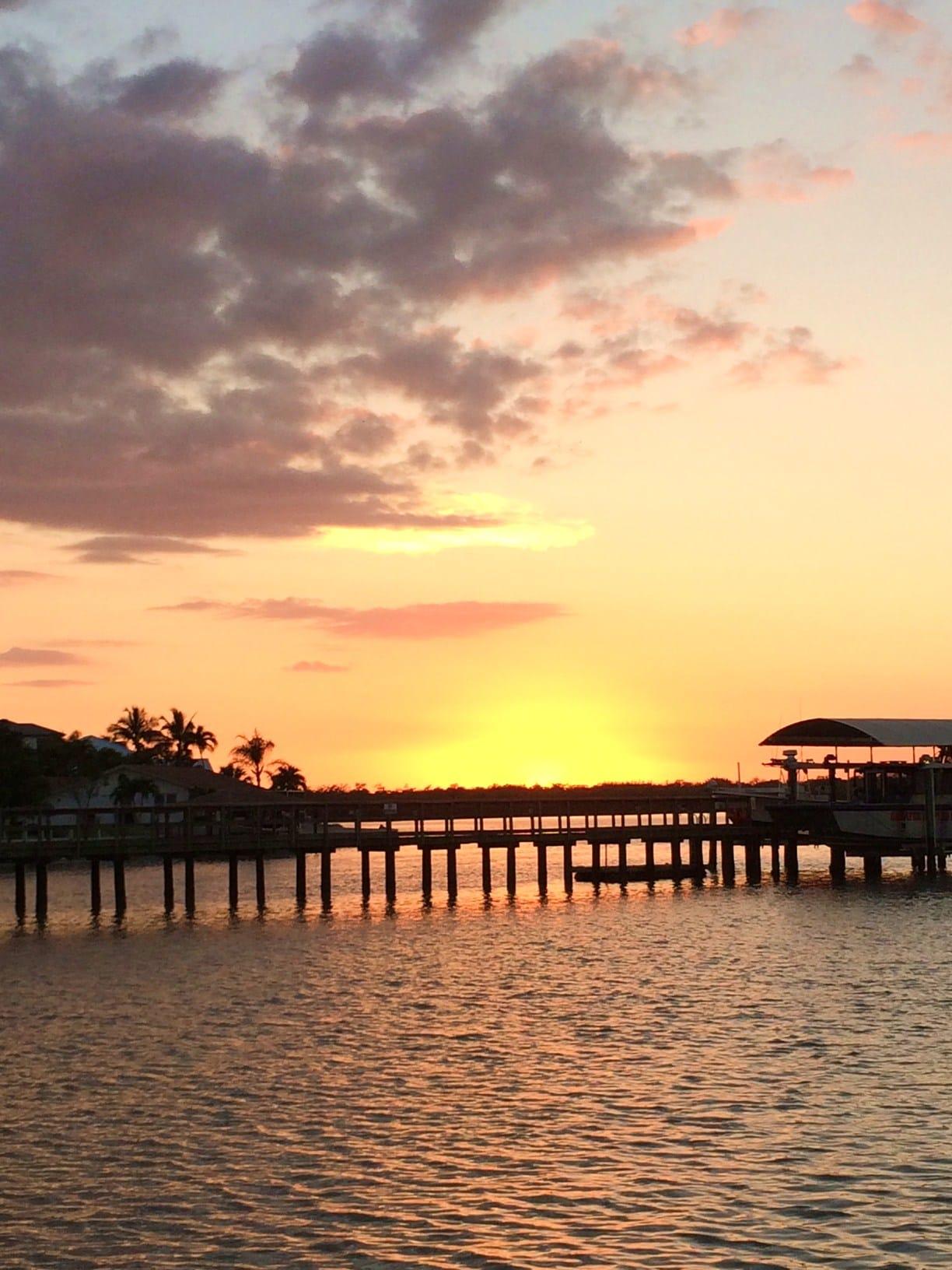 Sunset view from Capri Fish House