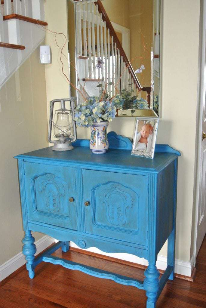 Diy Chalk Paint Entryway Table Makeover No Plate Like Home