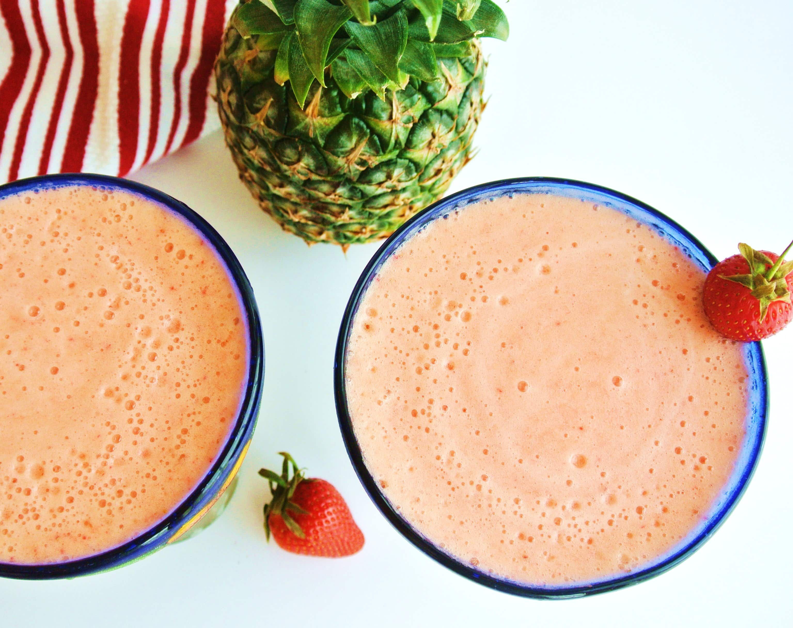 Frozen Pineapple Strawberry Margarita