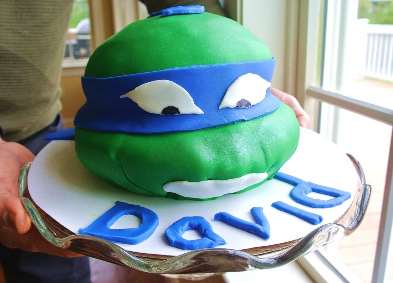 How to Make a Ninja FondantTurtle Cake