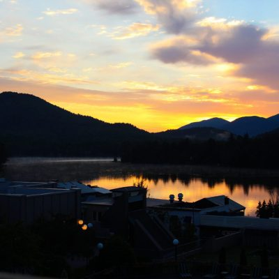 Discover Beautiful Lake Placid, NY in Summer ; Sunrise on Mirror Lake
