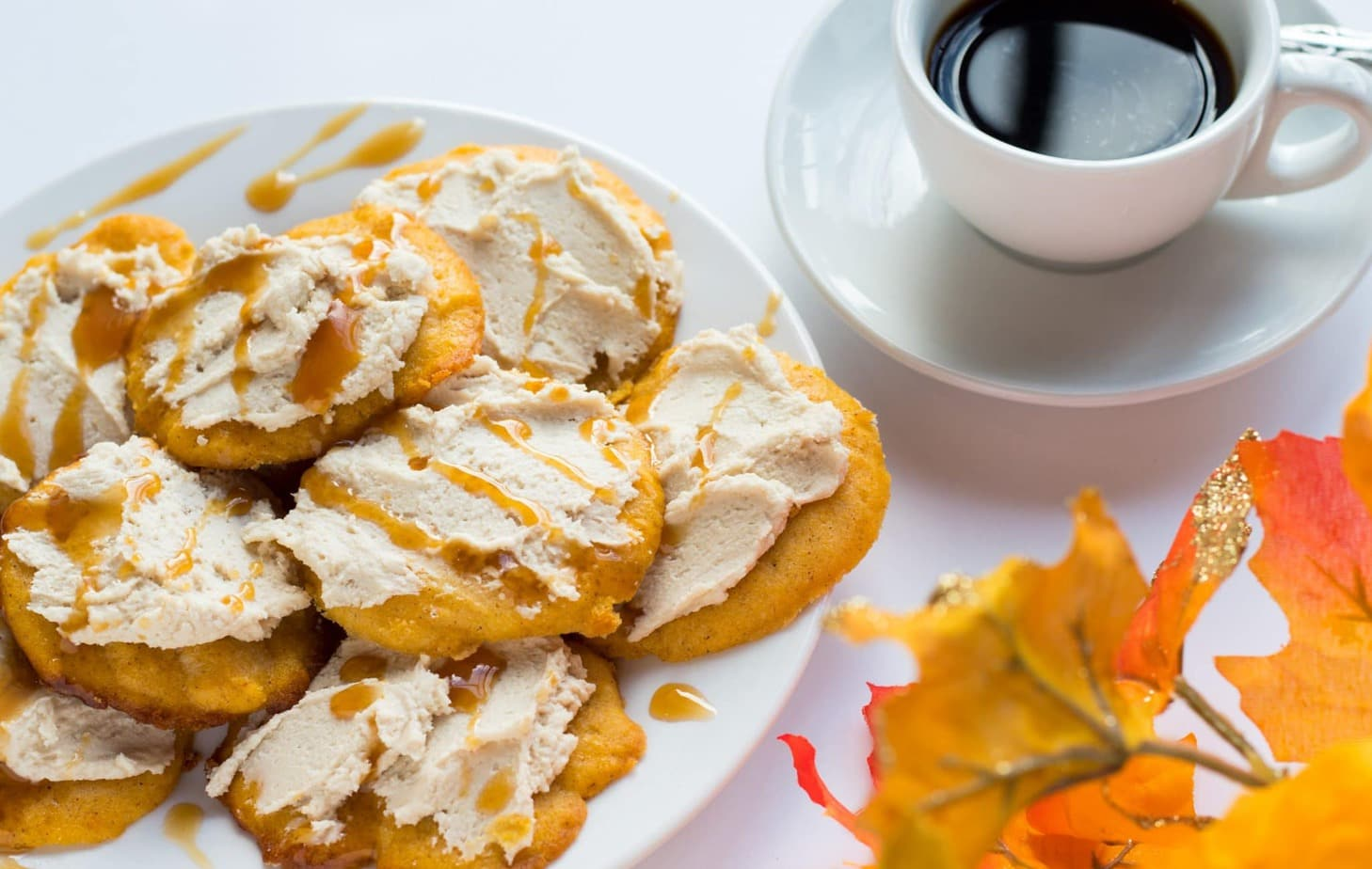 Spiced Pumpkin Ricotta Cookies with Caramel Icing