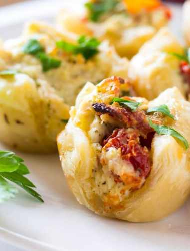 Pesto Chicken Bites Puff Pastry Appetizer