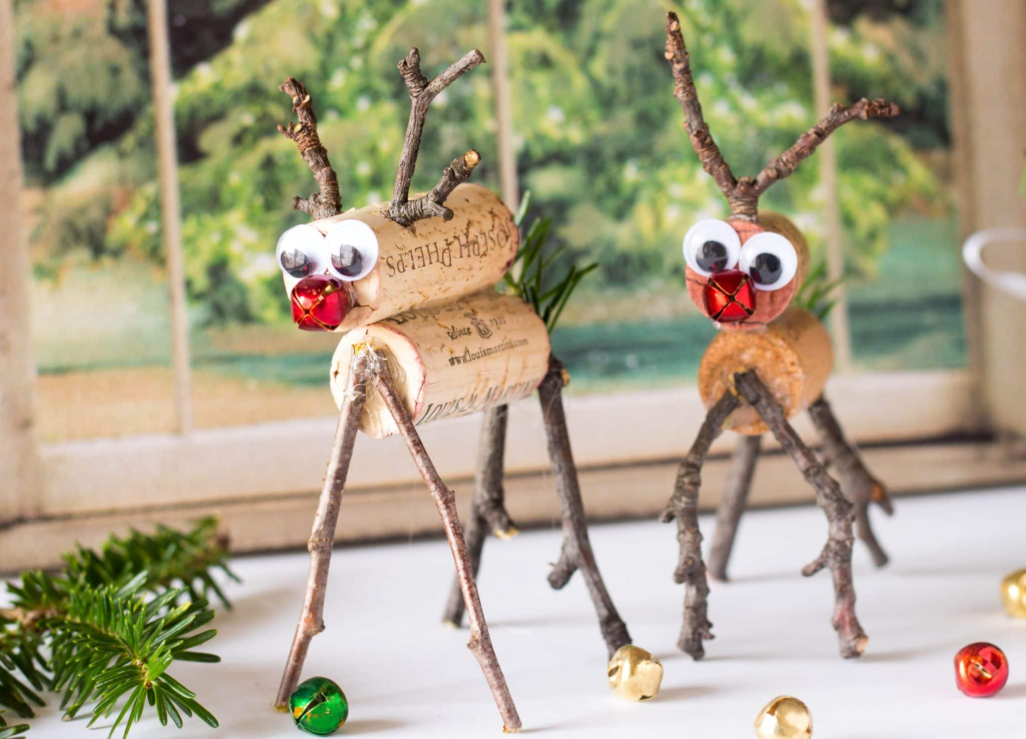 Easy Rudolph Reindeer Cork Craft