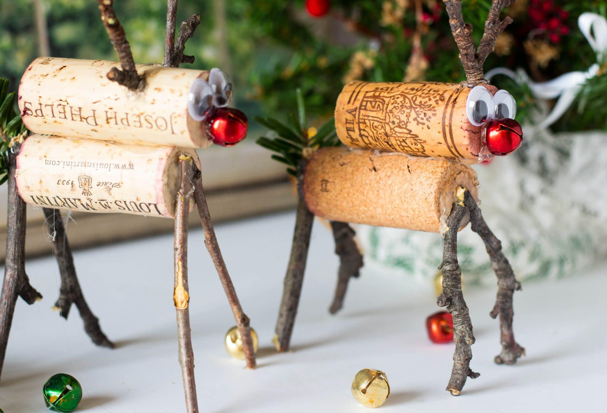 Easy Rudolph Reindeer Cork Craft