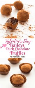 Easy Baileys Dark Chocolate Truffles