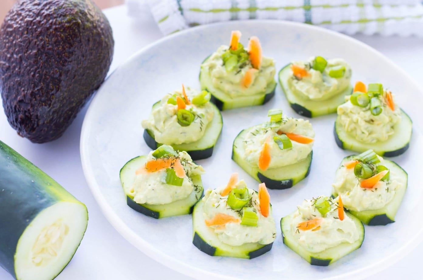 Avocado Tzatziki Cucumber Appetizer