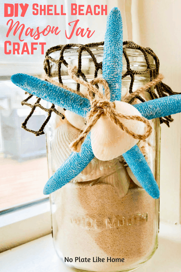 DIY Shell Beach Mason Jar Craft