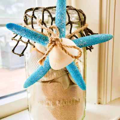 Easy DIY Seashell Mason Jar Beach Craft