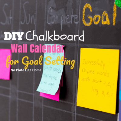 DIY Chalkboard Wall Calendar for Goal Setting