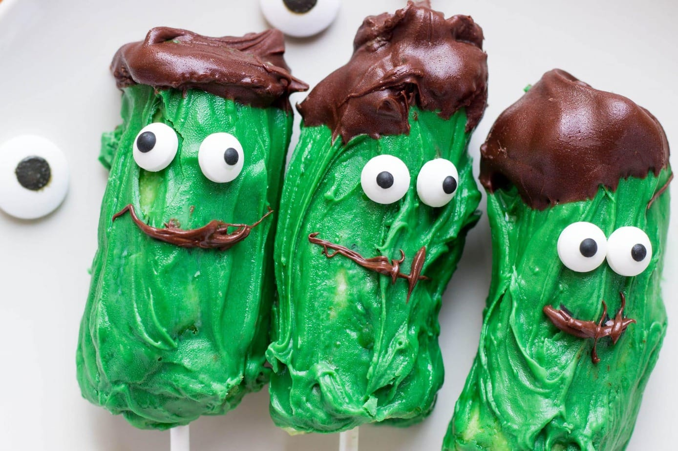 Frankenstein Banana Pops