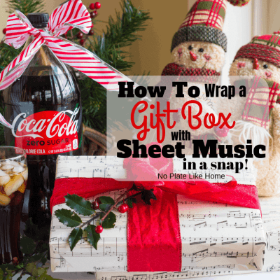 How to Wrap a Gift Box with Sheet Music in a Snap!