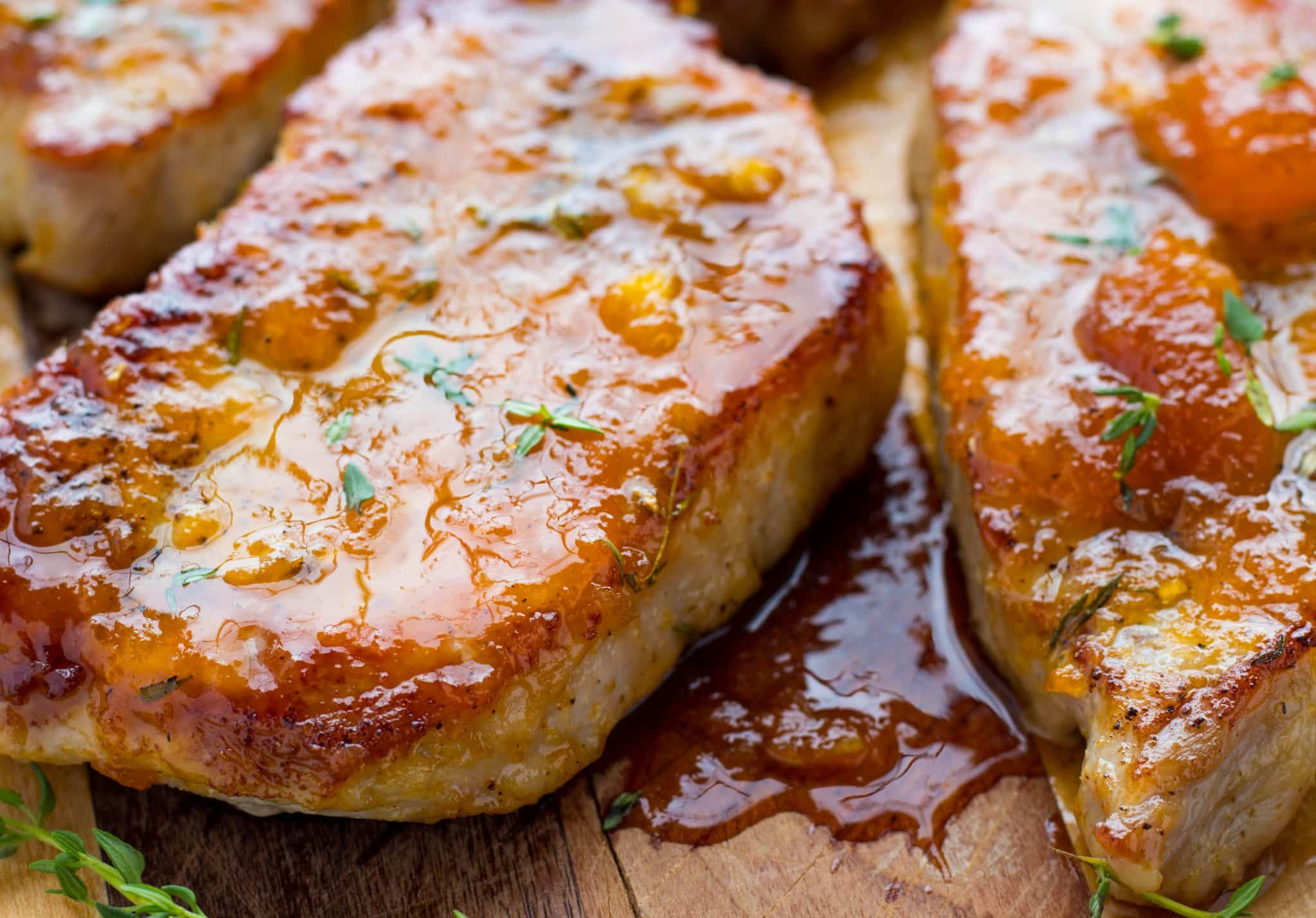 Make tender Easy Apricot Ginger Steakhouse Pork Chops in 30 min and enjoy affordable steakhouse pork chops at home with this easy-to-make recipe!