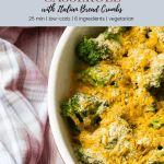broccoli and cheese with bread crumbs