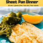 Spicy Orange Flounder Sheet Pan Dinner
