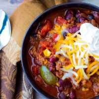 Slow Cooker Chili Recipe with Corn + Video