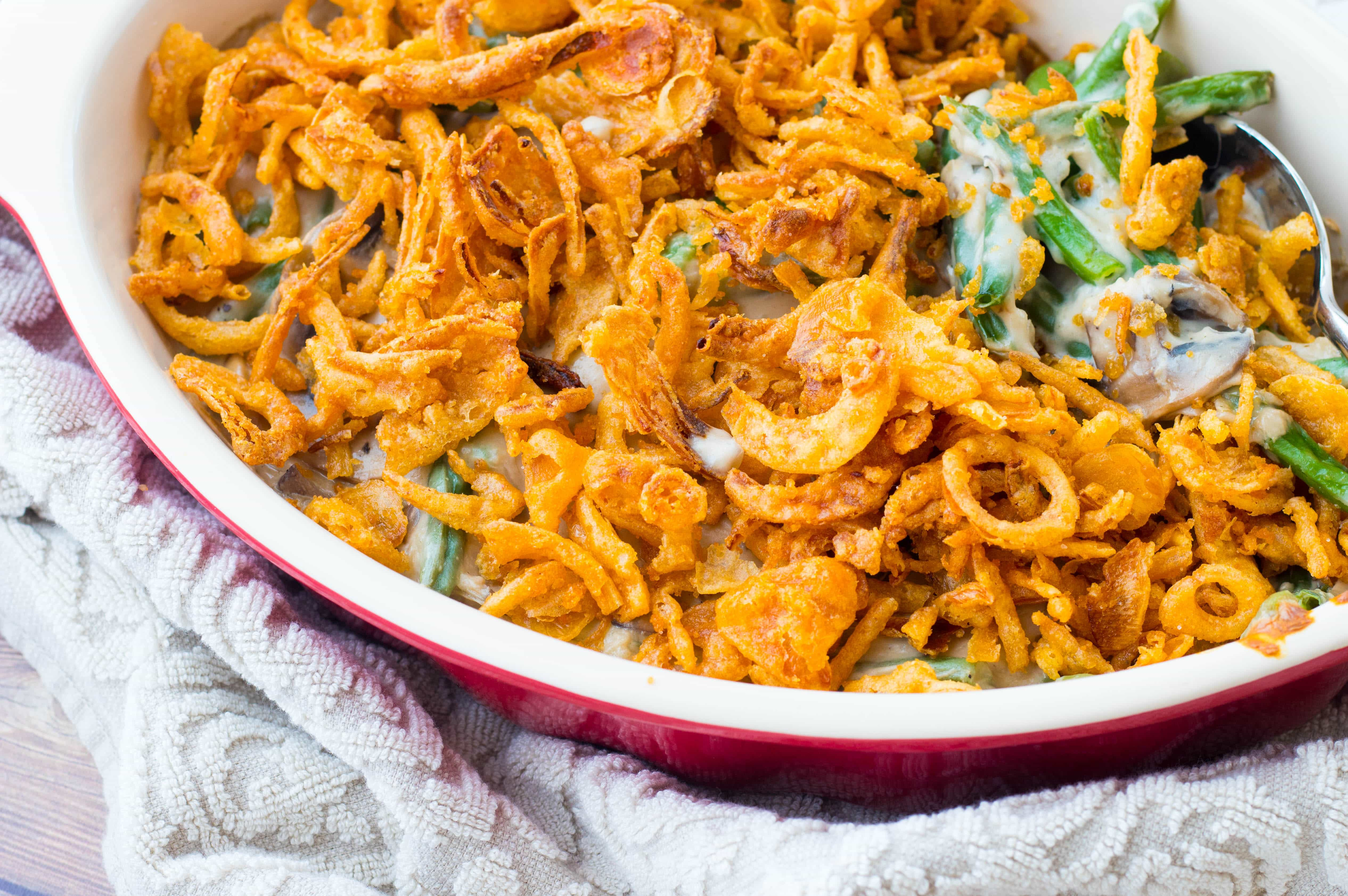recipes for green bean casserole from french fried onions
