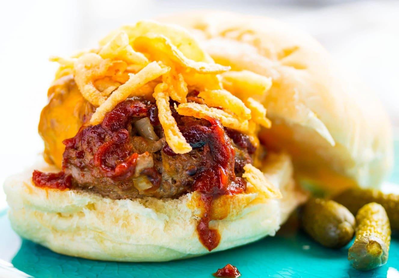 Hickory Onion BBQ Burger Recipe
