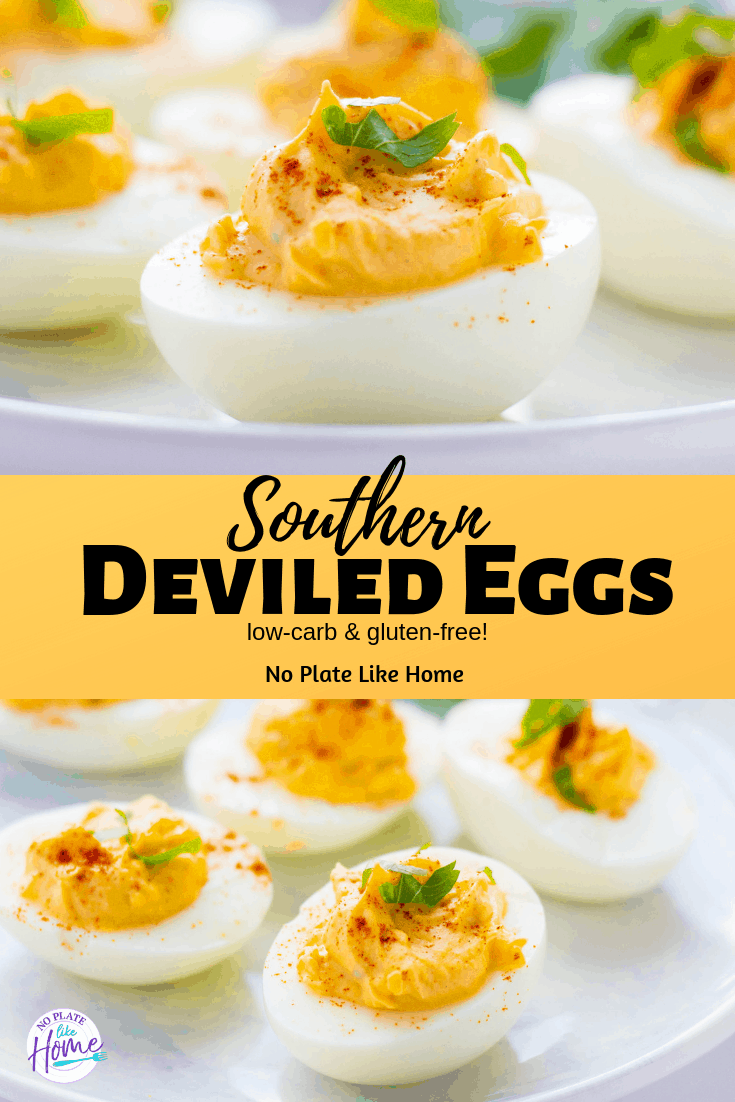 This low-carb recipe is SIMPLE and QUICK to make for BBQs and potlucks! Southern Deviled Eggs with Relish are creamy with just a little tang of sweetness!
