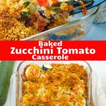 Tomato Zucchini Mozzarella Bake with Panko