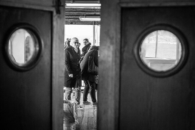 istanbul ferryboat woman