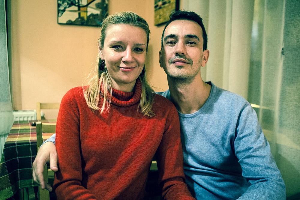 fotografie portre cuplu barbat femeie color