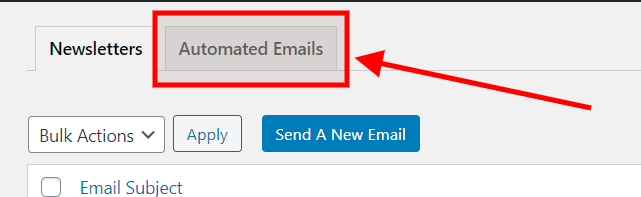 Open the email automations page