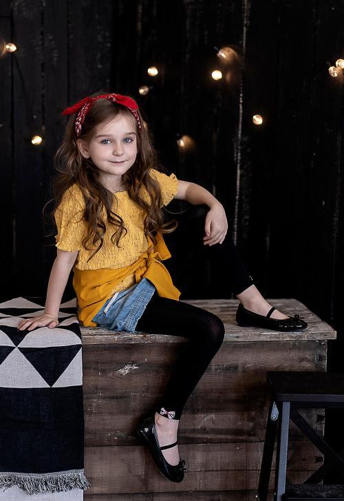 Legginsy dziewczęce z kokardką Elena