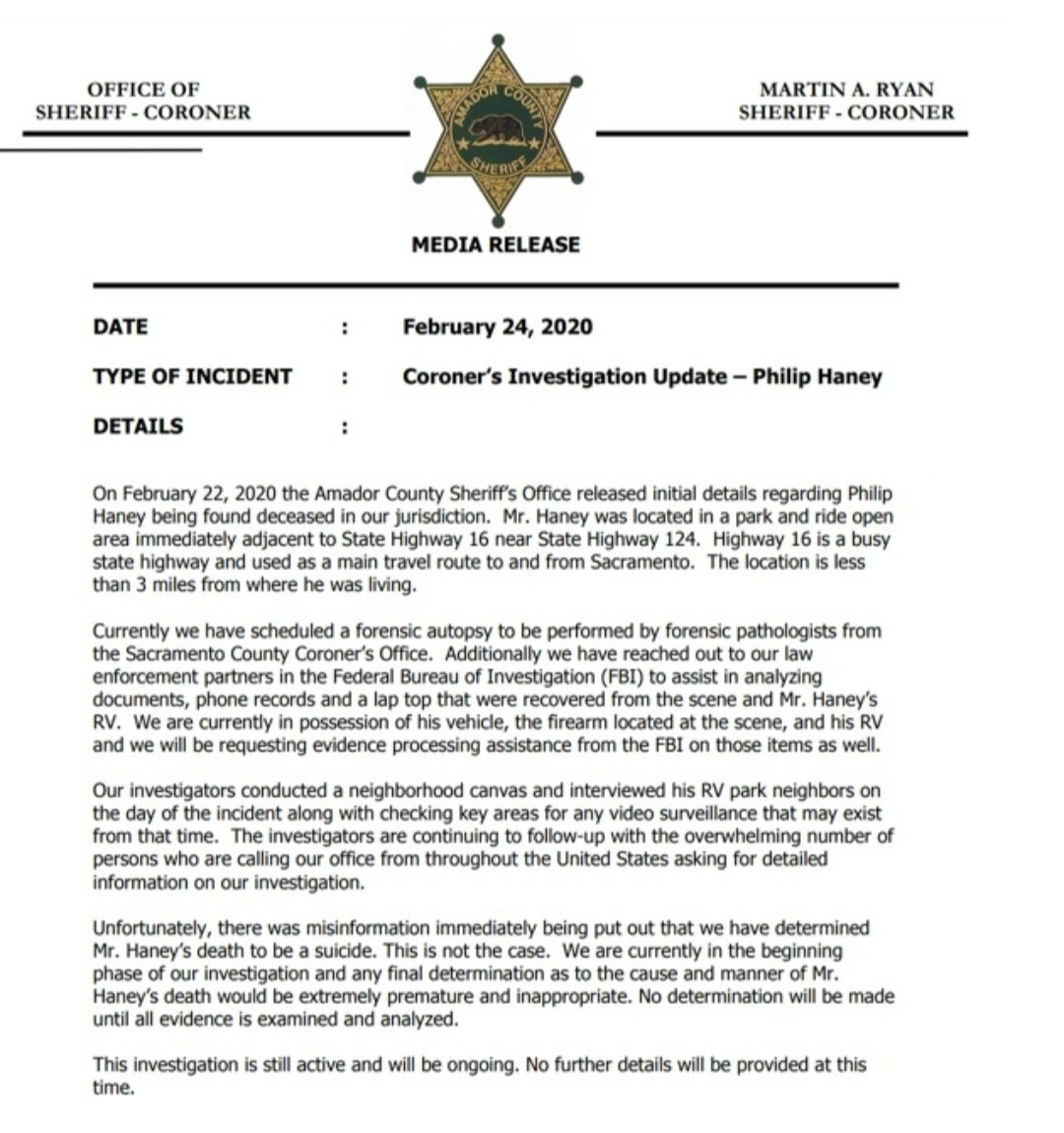 Philip Haney Investigation