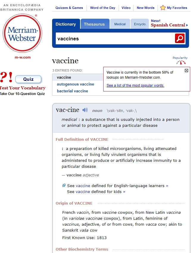 Merriam-Webster Vaccines