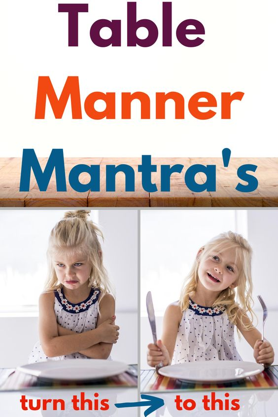 Table Manner Mantra's