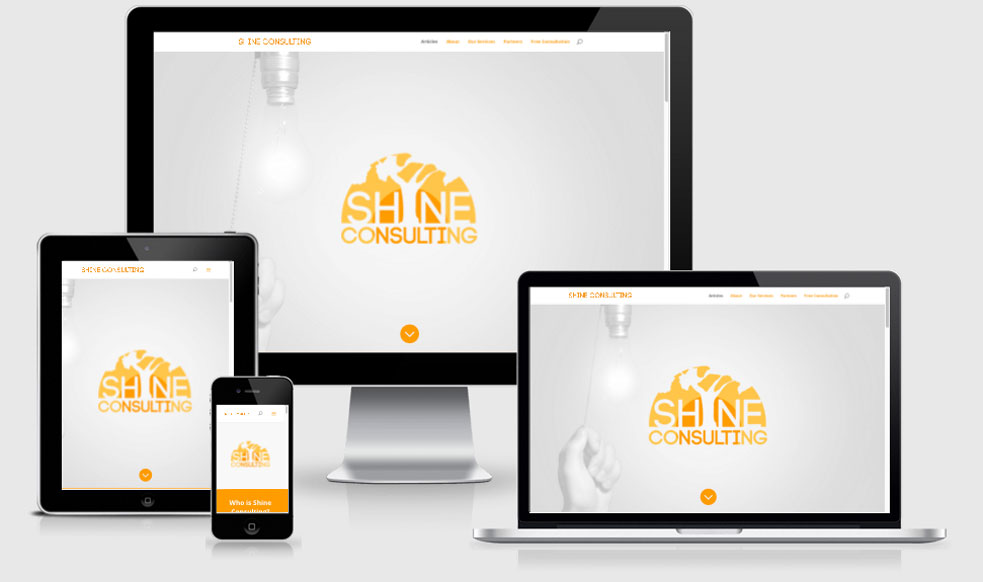 Shine Consulting Responsive Website Design