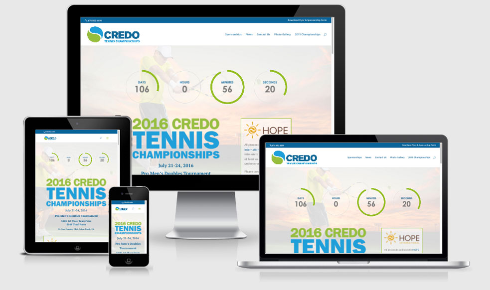 Credo Tennis Tournament Website