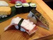 Octopus and pickled mackerel (Midori Sushi)