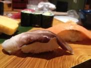 Squid and salmon (Midori Sushi)