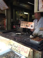 Grilled fish on a stick and much more.