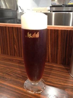 The excellent Asahi dunkel beer at Afuri