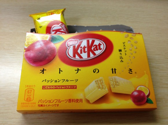 Passion Fruit Kit Kats from Japan