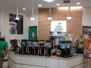 The self serve coffee bar at Gooz