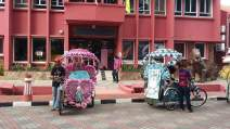 Beautifully decorated trishaw