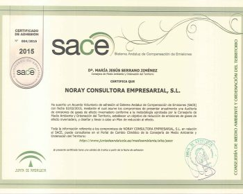 Certificado SACE firmado 2015