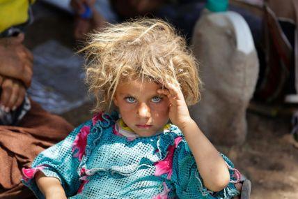 Yazidi Girl Rests