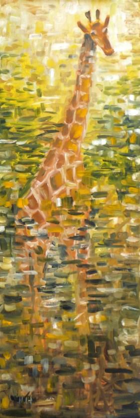 """Giraffe, November 2014, 36"""" x 12"""""""