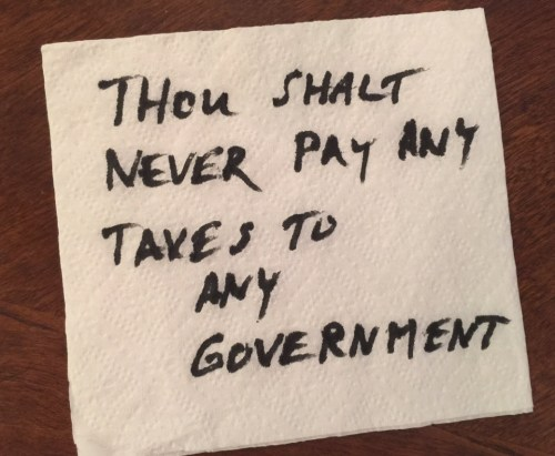 Rule on Napkin