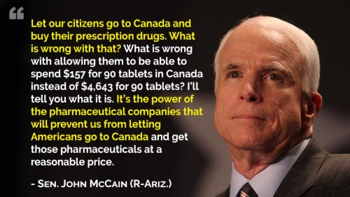 McCain and Pharma